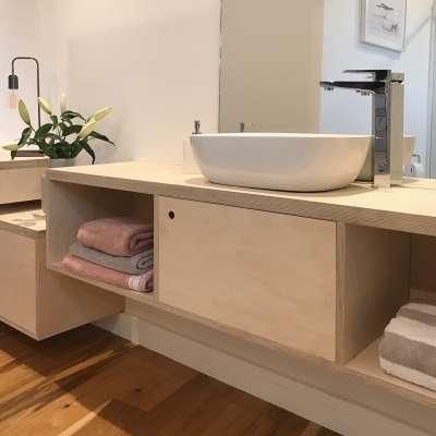 Bathroom furniture completed on site